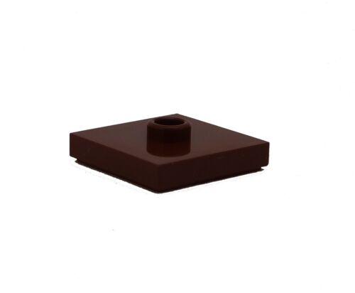 Lego 50x braune Fliese 2 x 2 mit einer Nocke Noppe Neu reddish brown 87580