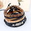 Men-039-s-Braided-Multilayer-Leather-Stainless-Steel-Cuff-Bangle-Bracelet-Wristband thumbnail 2