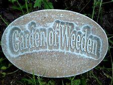 Plaster Concrete Garden of Weeden Mold mould