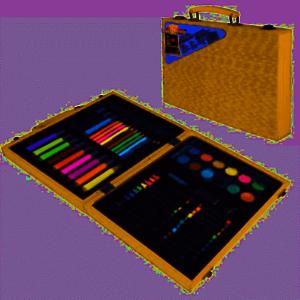 Per Bambini 68 PC Craft ARTE Artisti Set Scatola PASTELLI COLORI PENNE matita DGI-3851