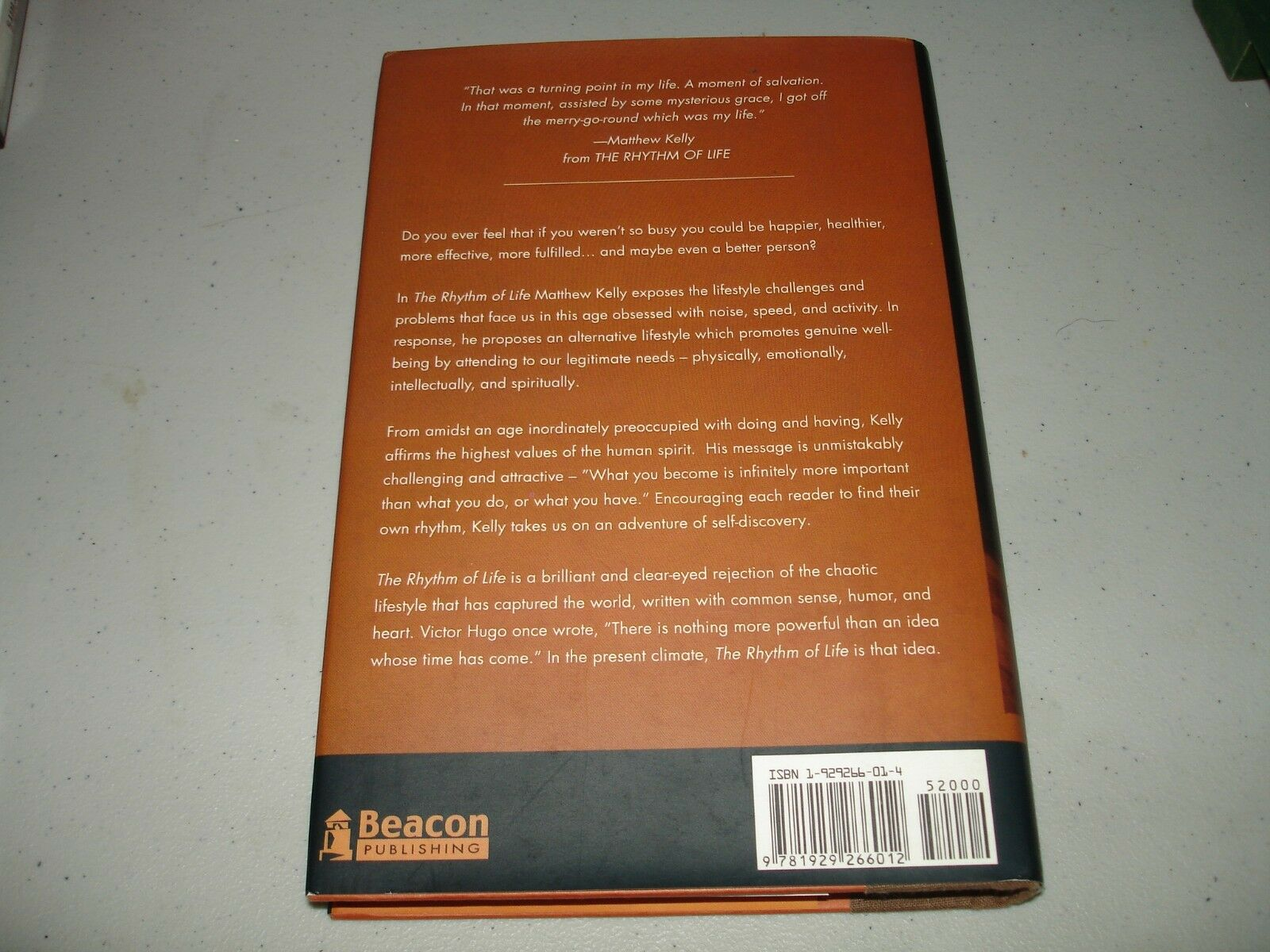 The Rhythm of Life : Living Every Day with Passion and Purpose by Matthew  Kelly (1999, Hardcover, Unabridged) | eBay