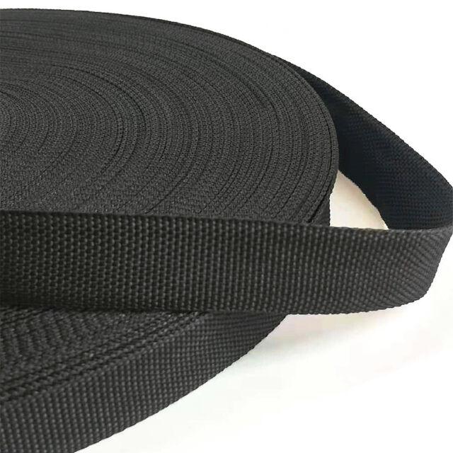 20/25/38/50mm Black Webbing Straps Polypropylene Tape Seat Belt  1-10 Meters