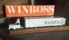 Vintage Die Cast Winross Collectible Advertising Tractor - Trailers , RourkeEno