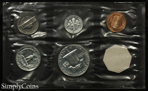 1963 Proof Set With COA ~ Flat Pack Original Envelope ~ US Mint Silver Coins MQ
