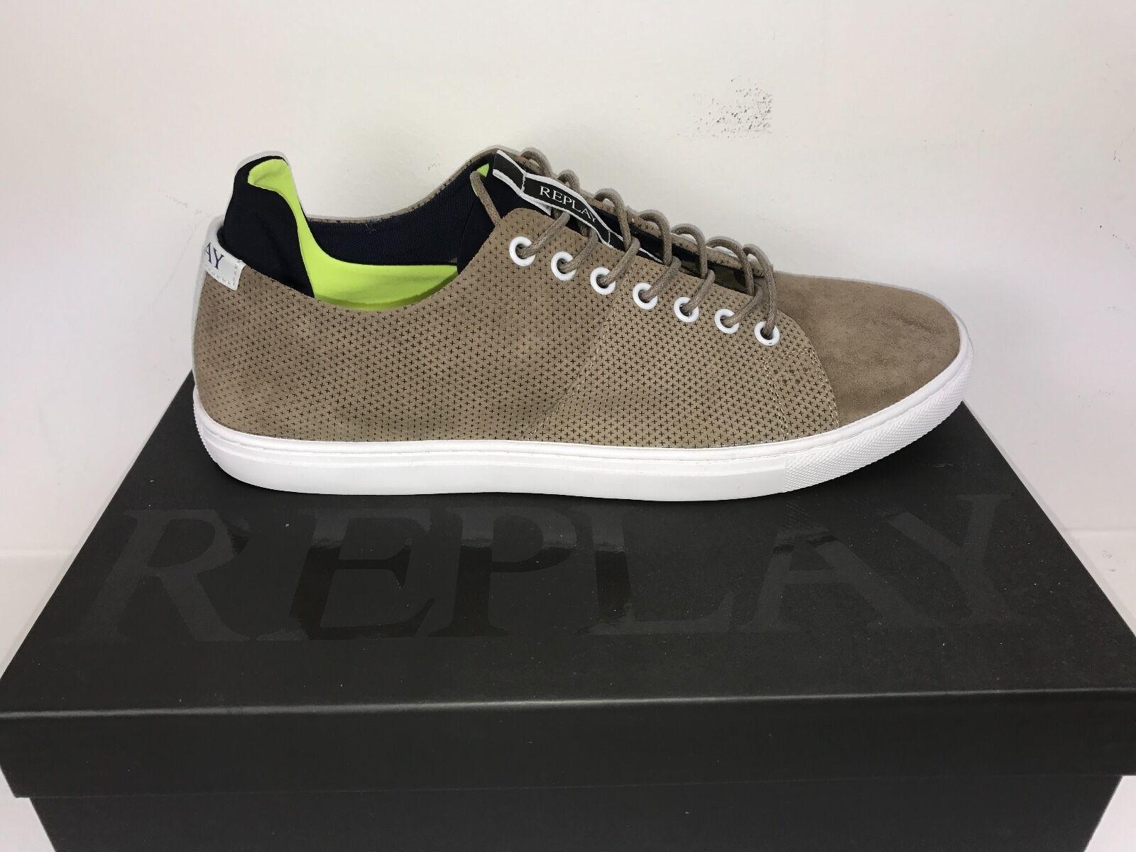 Coole Herren Sneaker REPLAY Dunedin hellbraun Gr. 42 Restposten  *NEU* 130 €