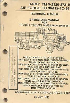 CD Technical Manual M35 series 2 1//2 ton 6x6 Military Truck 2.5  *NEW*