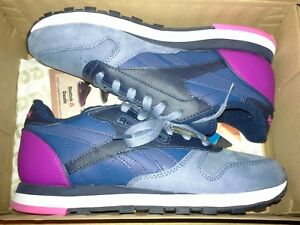 65320c2d5d9 REEBOK WOMENS CLASSIC LEATHER PM SZ 8 V66301 Blue Blue Indg Pink