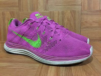 classic fit shop wholesale sales Used🔥 Nike Flyknit 1 One Running Shoes Club Pink Electric Green ...