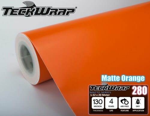 All Sizes Matt Orange Vinyl Car Wrap Bubble Free