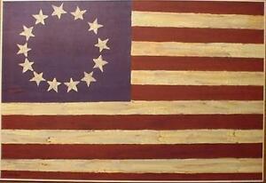 art-print-AMERICAN-FOLK-FLAG-Gloria-Bowlin-Americana-Patriotic-primitive-36x24