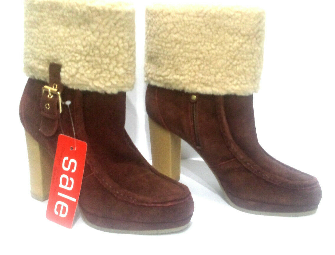 ROCKPORT - COURTLYN FUR LOW BOOT - SIZE 5 - 20,000+ F/BACK! BB253