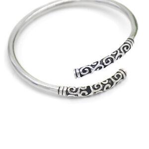 2019-New-Men-Women-Silver-Vintage-Bangle-Bracelet-Open-Cuff-Handmade-Jewelry
