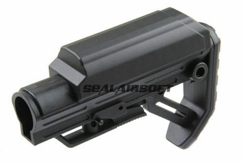 Golden Eagle JG Polymer Minimalist Type Stock For M4 M16 AEG Series Black M218