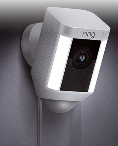 Ring Spotlight Cam Wired Outdoor Rectangle Security Camera White 8SH1P7-WEN0