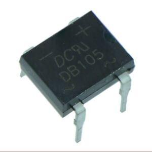 5x-DB107-Rectificador-en-puente-Diodo-1a-1000v-dil-4