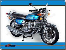 SUZUKI GT750 MOTORCYCLE (MAUI BLUE) METAL SIGN.VINTAGE SUZUKI MOTORCYCLES (A3)