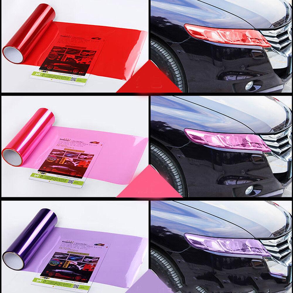 Car Headlight Taillight Fog Light Sticker Tint Protector Film Vinyl Wrap Decals 7