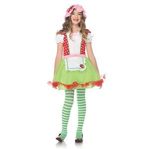 Image is loading Strawberry-Sweetie-2-Piece-Child-Costume-Strawberry- Shortcake-  sc 1 st  eBay & Strawberry Sweetie 2 Piece Child Costume Strawberry Shortcake Leg ...