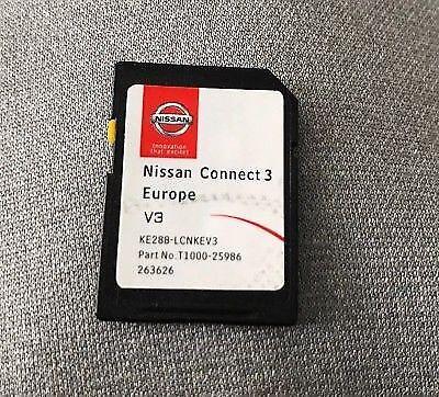NISSAN CONNECT 3 V3 KE288-LCNKEV3 V3 SAT NAV MAPS SD CARD 2017 / 2018