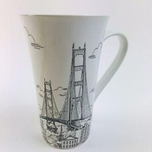 "222 Fifth City Scenes 6-1/4"" Tall Latte Coffee Mug San ..."