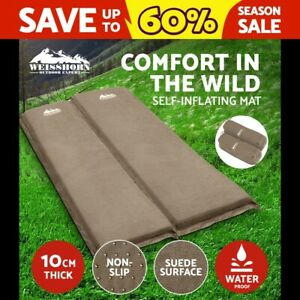 WEISSHORN-Double-Self-inflating-Mattress-Mat-Sleeping-Air-Bed-Camping-10CM-Thick