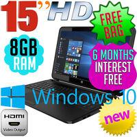 Hp 250 G5 15.6 Intel N3060 8gb 500gb Dvd±rw Windows 10 Laptop Computer Pc