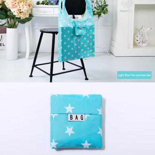 Eco Reusable Nice Foldable Nylon Eco Storage Travel Shopping Tote Grocery Bag