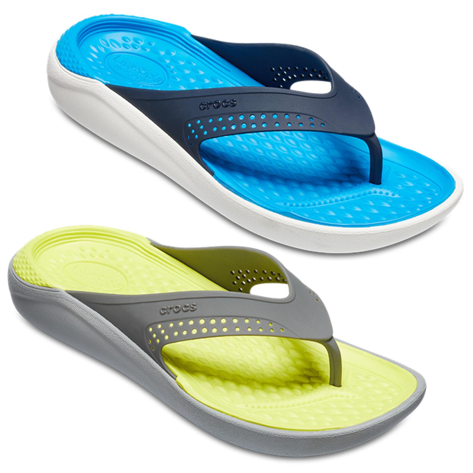 Crocs LiteRide Flip UnisexLightweight Open Toe Flat Summer Holiday Beach Sandals