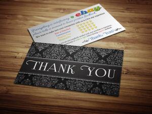 50 thank you ebay seller business cards 5 five star rating elegant image is loading 50 thank you ebay seller business cards 5 colourmoves