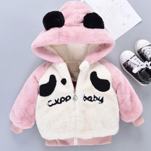 Baby Infant Boy Girls Winter Cartoon Hooded Coat Cloak Jacket Thick Clothes XIU