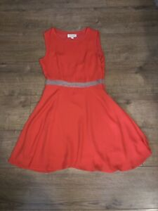 Topshop-Goldie-Londres-Vestido-de-estilo-skater-naranja-Vacaciones-Verano-Talla-Xs-6-8