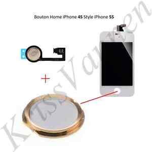 42fa4e78220 Tecla de Inicio Blanco con Contorno Dorado para IPHONE 4S + Mantel ...