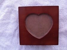 SMALL WOODEN JEWELRY BOX W/ HEART SHAPED PHOTO FRAME LID