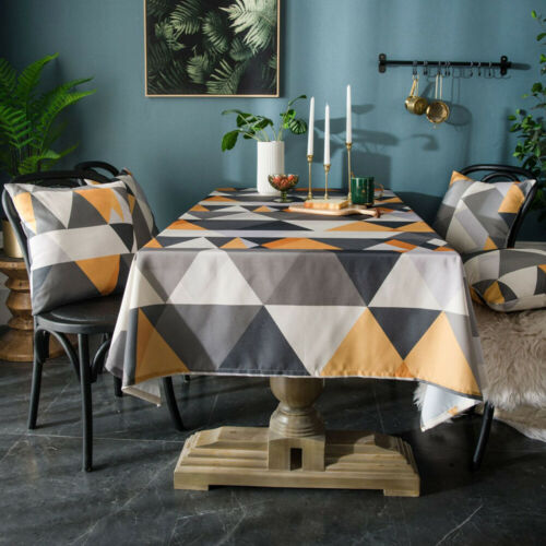 Modern Printed Tablecloth Square Rectangle Dinner Table Cloth Covers Table Decor