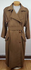 Vintage Jil Sander Pure 100% Cashmere Brown Long Trench Coat Plus Size 2X - 3X