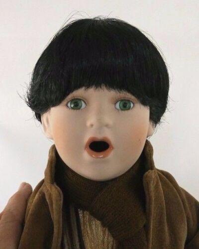 Unbranded PITTY PATTY Black  Doll Wig Sz 12  Full Cap Shiny  Short Bob