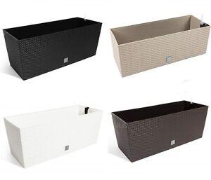 blumentopf blumenk bel blumenkiste rattan optik. Black Bedroom Furniture Sets. Home Design Ideas
