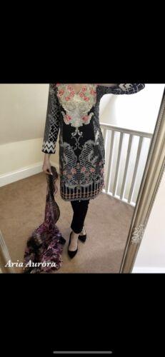Baroque Style Asian Eid Pakistani Indian Shalwar Kameez Outfit Faulty S M L XL