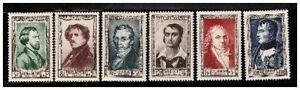s23345-FRANCE-1951-MNH-Nuovi-Famous-persons-6v-Y-amp-T-891-96