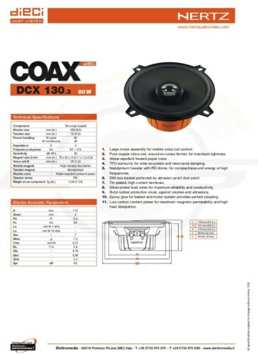 Kit 4 Casse Altoparlanti HERTZ Fiat Punto 188 Anteriori DCX 170.3+Post DCX130.5