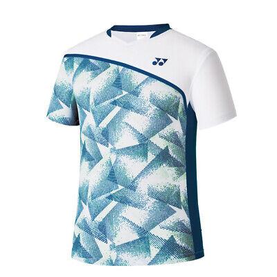 Yonex 19 S//S Men/'s Badminton Round T-Shirts Racquet Racket Blue NWT 91TS039M