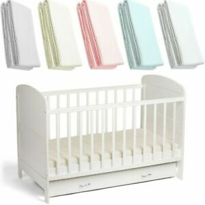 Cot-Bed-Jersey-Fitted-Sheet-100-Cotton-Pack-Of-2