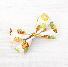 Blanco con impresión de piña amarillo Pin Up Clip Cabello Moño