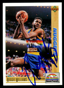 Reggie Williams #206 signed autograph auto 1991-92 Upper Deck Basketball Card