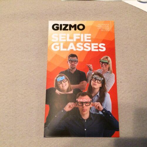 Gizmo Selfie Glasses 6 Card Glasses Fits Adults /& Children Kids New Sealed