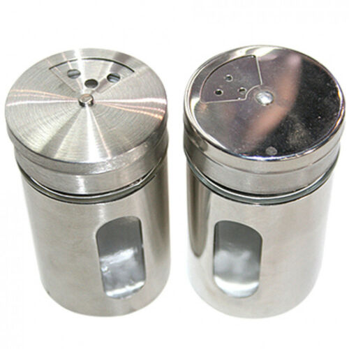 24 Stück Gewürzstreuer Edelstahl gebürstet 80 ml 3 untersch Streudosierungen