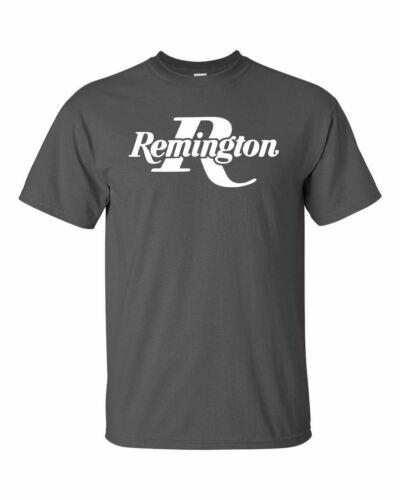 Remington White Logo T-Shirt 2nd Amendment Pro Gun Brand Tee Rifle Shotgun New
