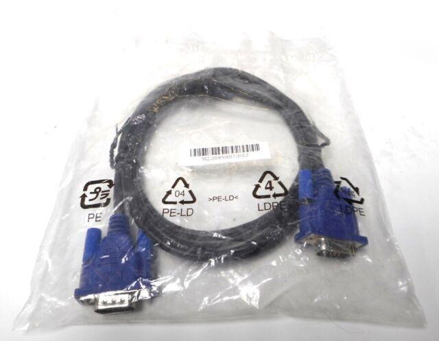 NEW Hotron E246588 AWM Style 30V 15 Pin VGA Chord 6 Feet Video Lead Male to Male