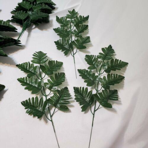 144 LEAF-silk leather fern leaf stems for cemetery arrangement,home floral-sale