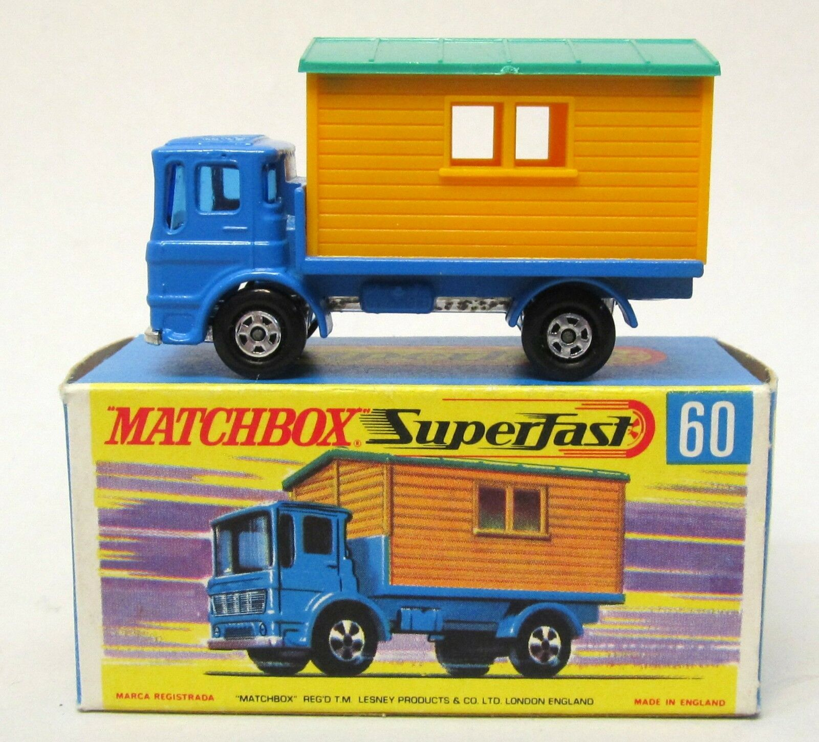 Matchbox Superfast Office Site Truck Menta en caja blu de transición